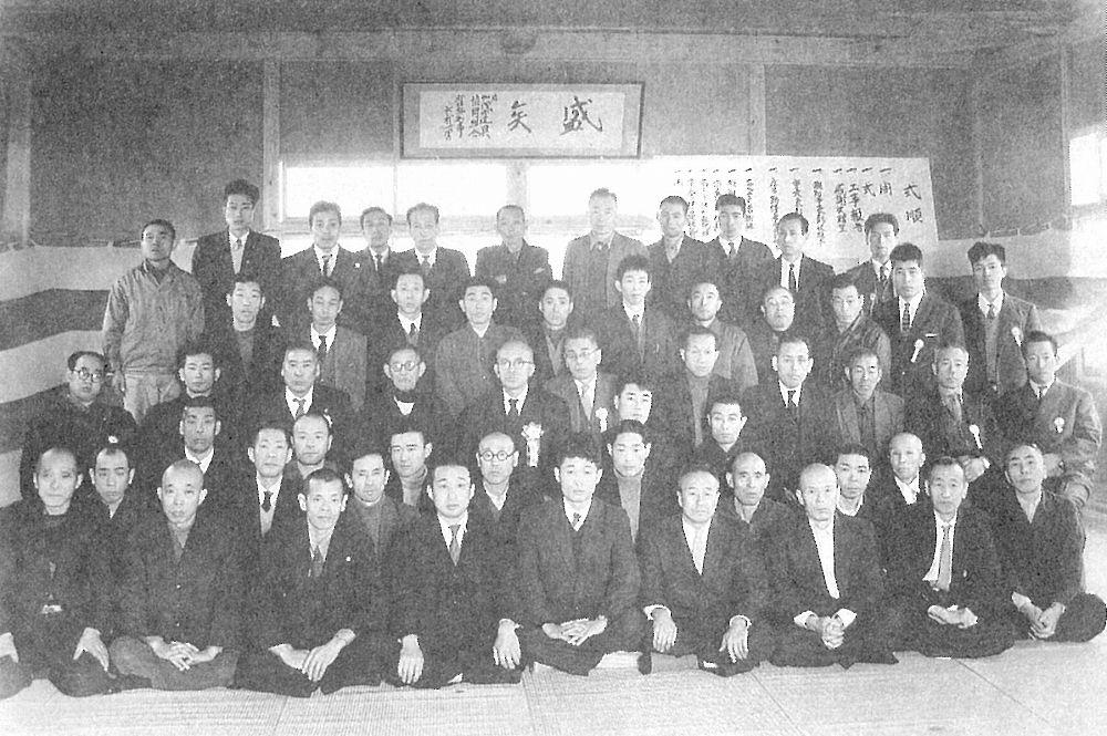 加茂建具協同組合事務所の新築落成記念(本町土手通り)