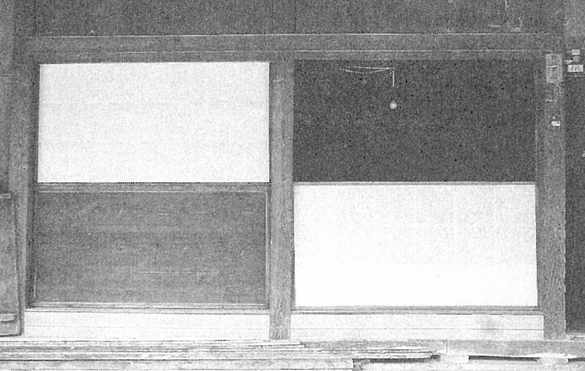 加茂市秋房1番に残る「蔀戸」